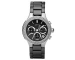 DKNY NY4983 - Ladies Black Dial Stone Accented W..