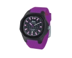 iTime Unisex Quartz Watch Black Dial Purple Stra..