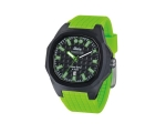 iTime Unisex Quartz Watch Black Dial Green Strap..