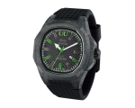 iTime Unisex Quartz Watch Black Dial Black Strap..