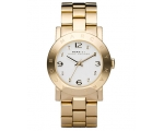 Marc Jacobs Amy White Dial Gold-Tone Ladies Watc..