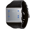 The One Slim Square Sls113b3 Men's Black Silicon..