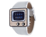 The One Watches TV228B1 Mens TV White Leather St..