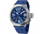 TW Steel Canteen Blue Dial Blue Silicone Mens Wa..