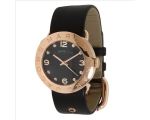 Marc by Marc Jacobs Black Dial Black Leather Lad..