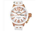 TW Steel CEO Canteen White Leather Strap Mens Wa..