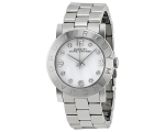 Marc Jacobs Amy White Dial Stainless Steel Ladie..