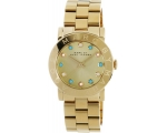 Marc by Marc Jacobs Gold dial Gold-tone Ladies W..