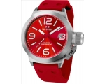 TW Steel Canteen Red Dial Red Silicone Mens Watc..