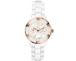 Guess Gc Ladies Mother of Pearl White Ceramic Wa..