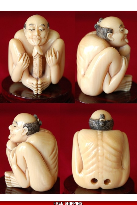 Ivory Gay Erotic Japanese Netsuke