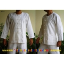 Loomed Cotton Mens Shirt Asian KungFu..
