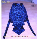 Blue and Black Paisley Bikers Scull C..