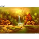 Original Painting Thai Art-Waterfall ..