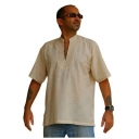 Mens Short Sleeve Cotton Kurta Styled..