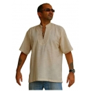 Mens Short Sleeve Cotton Kurta Shirt ..