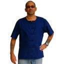 Blue Mens Shirt Asian Kun..