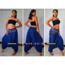 BLUE Hmong Boho Trousers ..