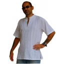 Mens White Shirt Stylis..