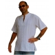 Mens White Shirt Stylish Kurta Rib..
