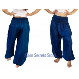 Casual Trousers Aladdin Blue Harem Pan..