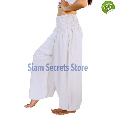 White Harem Pants Casua..