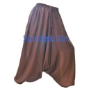 Silky Brown Harem Pants B..