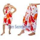 Large Red & Orange Sarong-Beach Pareo..