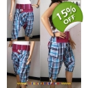 Check Ladies Harem Pants-..