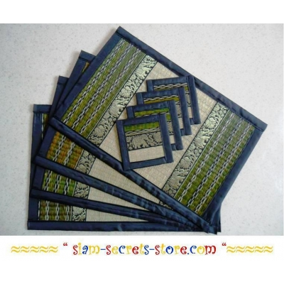 Wicker Placemat Set, Pr..