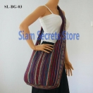 Monks Sling Bag striped Cross Shoulde..