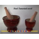 Thai Pestle and mortar 2 sizes Tradit..