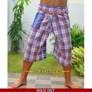 Purple Check Thai Pants 3..