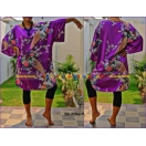 Ladies Purple Silk Caftan, Poncho Top..