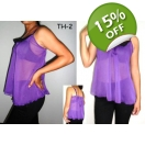 Sexy Chiffon Strappy Ladies Top-Purpl..