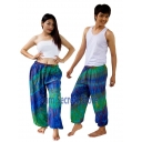 Real Tie dye Pants Blue H..