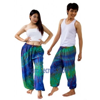 Real Tie dye Pants Blue..