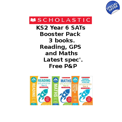 Year 6 Booster Pack [3 Books] KS2 SATs Booster Books for E..
