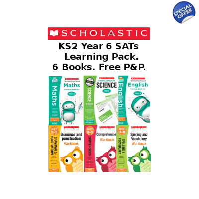 Year 6 Learning Pack [6 Books] KS2 SATs 6 Books for Englis..