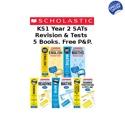 Year 2 Exam Pack [5 Books] KS1 SATs Revision Guides and Pr..