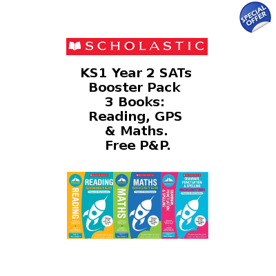 Year 2 Booster Pack [3 Books] KS1 SATs English and Maths w..