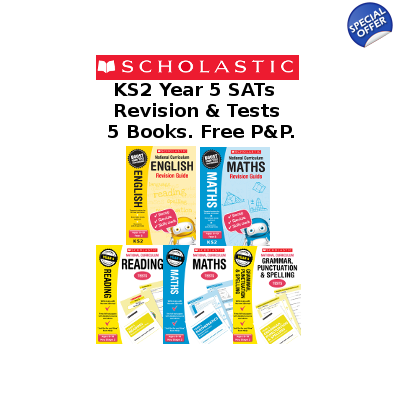Year 5 Exam Pack [5 Books] KS2 SATs Revison Guides and Pra..