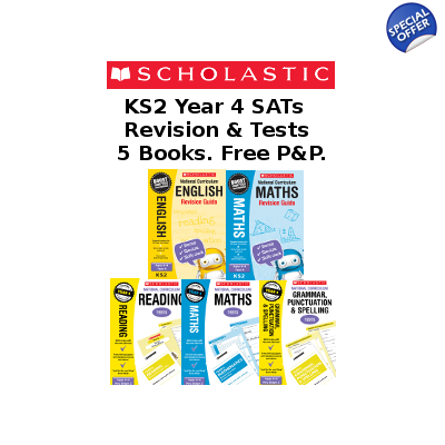 Year 4 Exam Pack [5 Books] KS2 SATs Revision Books & Pract..