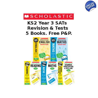 Year 3 Exam Pack [5 Books] KS2 SAT Revision Guides and Pra..