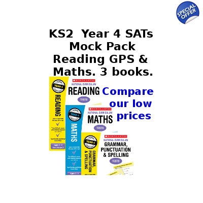Year 4 Mock Pack [3 Books] KS2 SATs Practice Tests for English and Maths