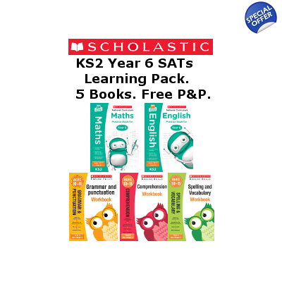 Year 6 Learning Pack [5 Books] KS2 SATs 5 Books for Englis..