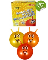 6 x Smiley Face Space Hoppers