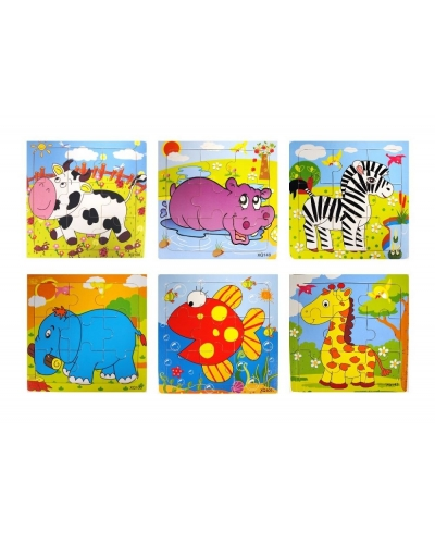 Wrapped Grotto Toys - Wooden Animal Jigsaw x 24