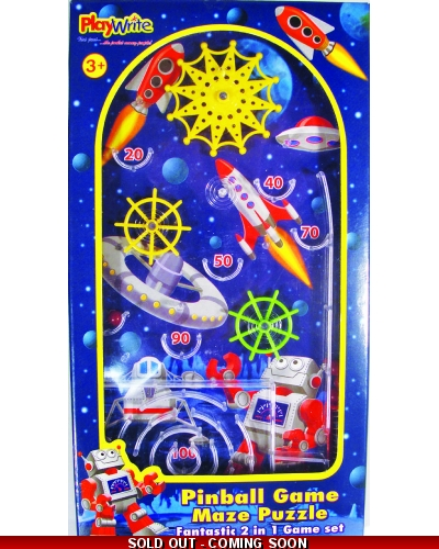 Wrapped Grotto Toys - Space Pinball Games x 12