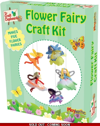 Wrapped Grotto Toys - Flower Fairy Craft Set  x 12